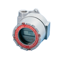 The BR3000 flowmeter rate/totalizer continuously displays flow rate and total.