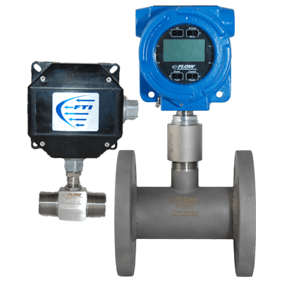 Temperature compensating electronics for industrial flow meters