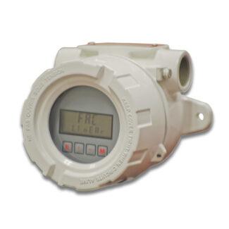 Total & rate display for flow meters